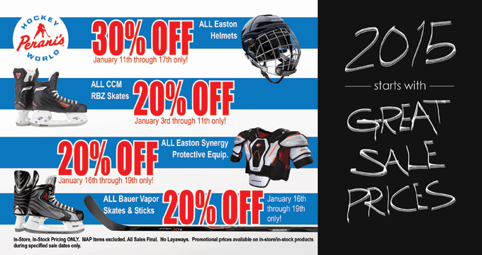 Hockey World January 2015 sale specials